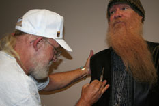That's right it's ZZ Tops' Billy Gibbons after his concert in Kansas City.